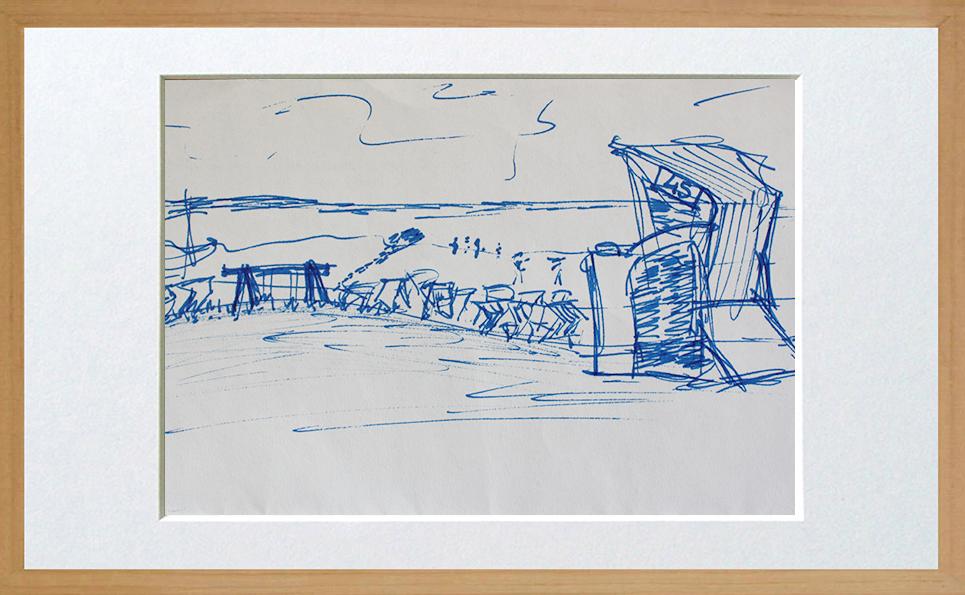 Strandkorb skizze  Skizzen - Ali Baslik